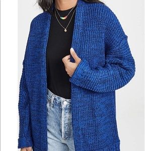 Free People High Hopes Blue Cardigan Sweater M